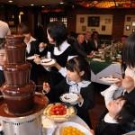 チョコレートファウンテンなら、子どもが楽しめるイベントになることでしょう♫