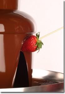 チョコレートファウンテンは、クーベルチュールで!