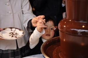 お子さまも楽しめる『チョコレート・ファウンテン❤』