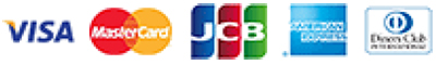 「VISA」「MasterCard」「JCB」「AmericanExpress」「DinersClub」