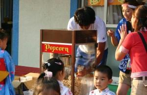 夏祭りでも、キャラメルポップコーンは、お子さんに大人気
